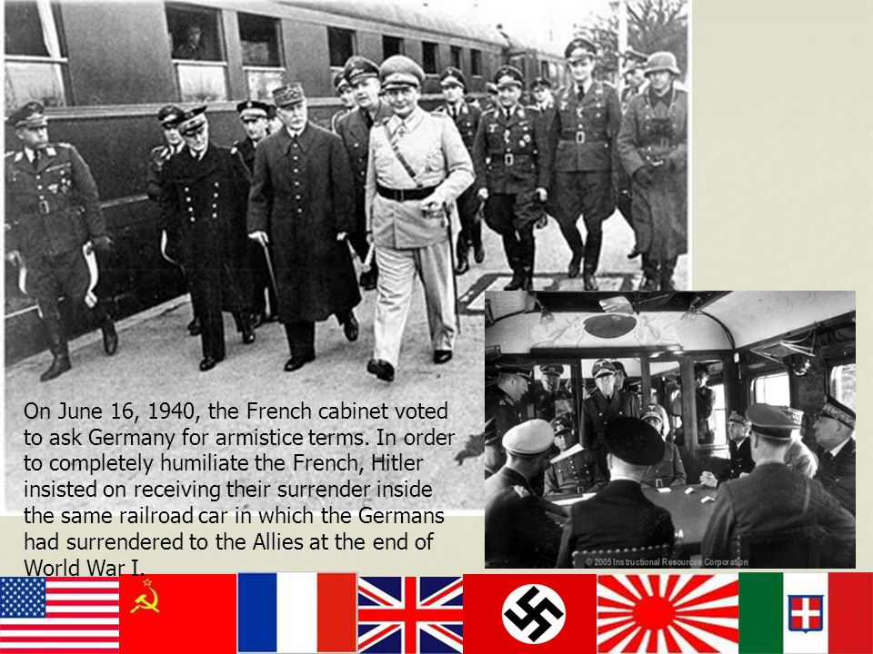 On June 16, 1940, the French cabinet voted to ask Germany for armistice terms.