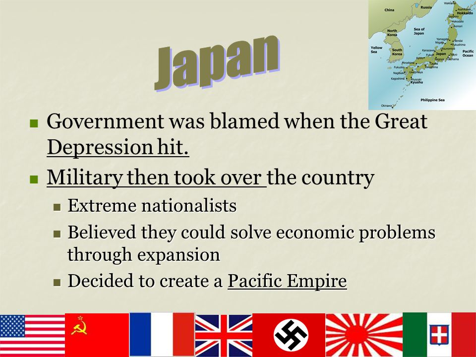 Japan Government was blamed when the Great Depression hit.