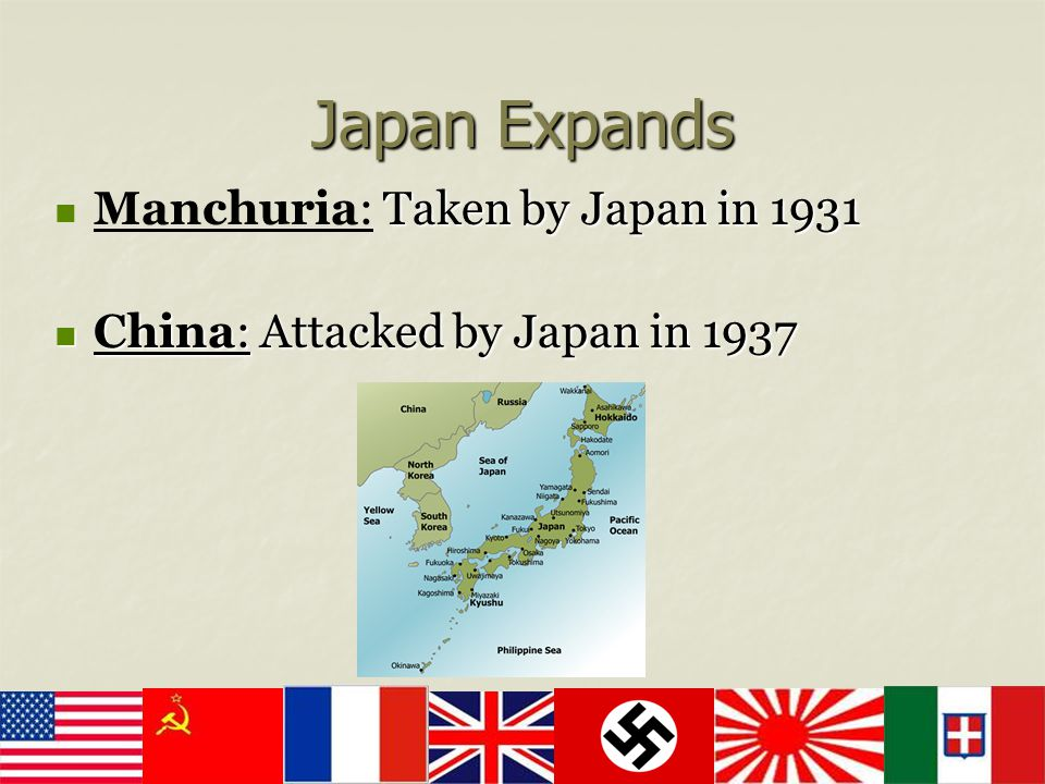 Japan Expands Manchuria: Taken by Japan in 1931
