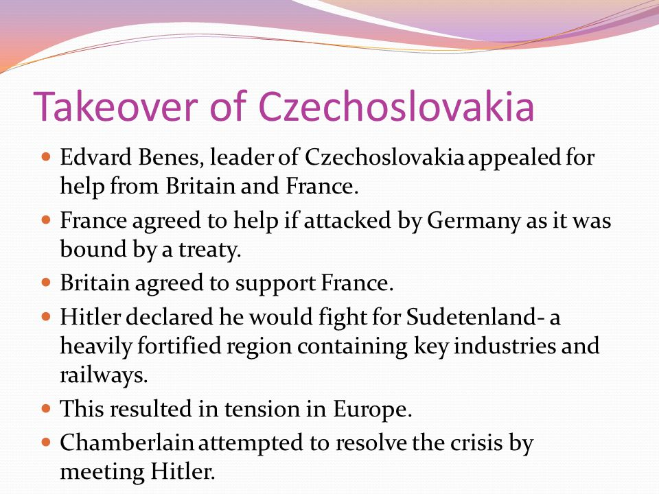 Takeover of Czechoslovakia