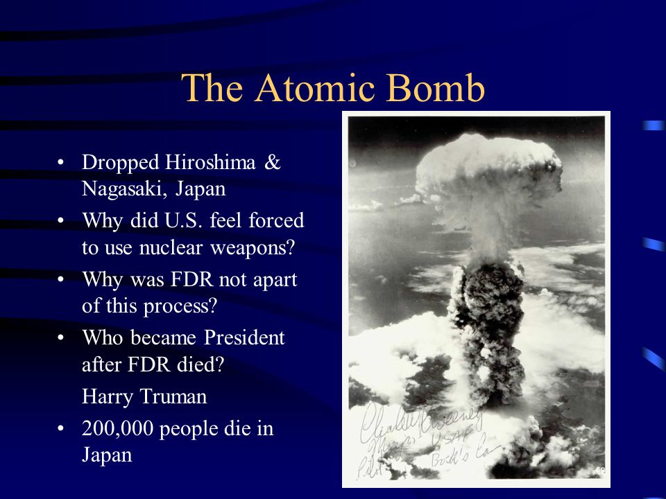 The Atomic Bomb Dropped Hiroshima & Nagasaki, Japan