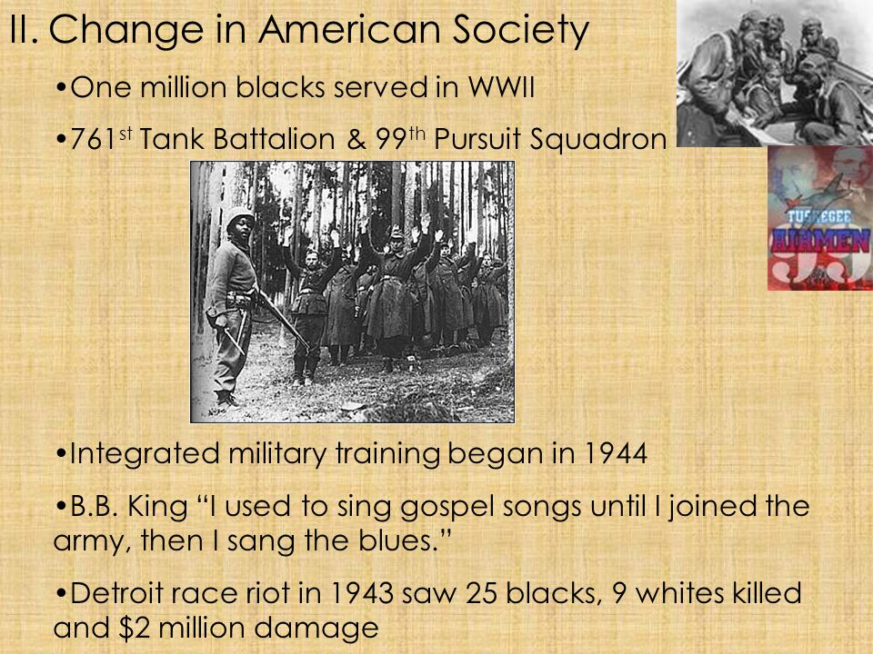 II. Change in American Society