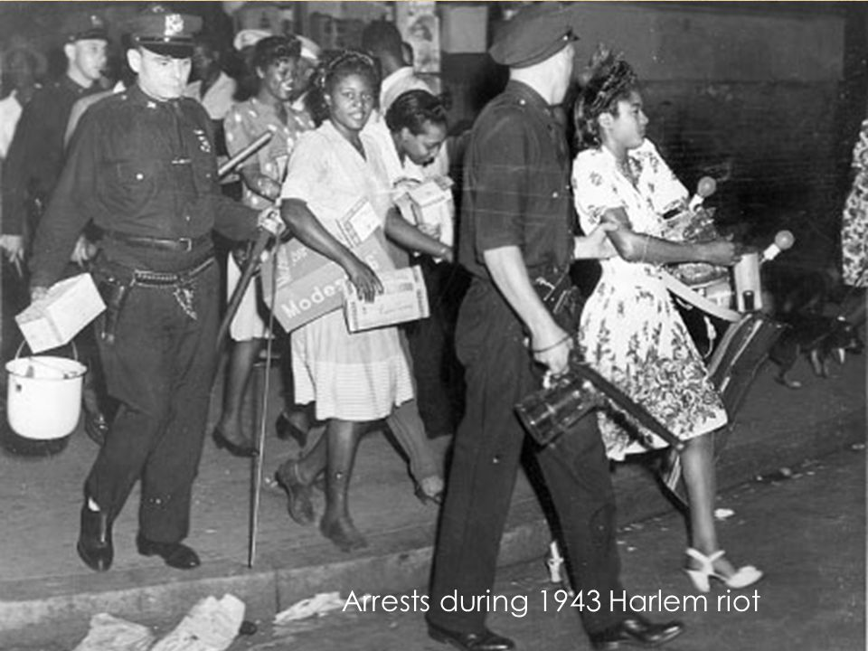 Arrests during 1943 Harlem riot