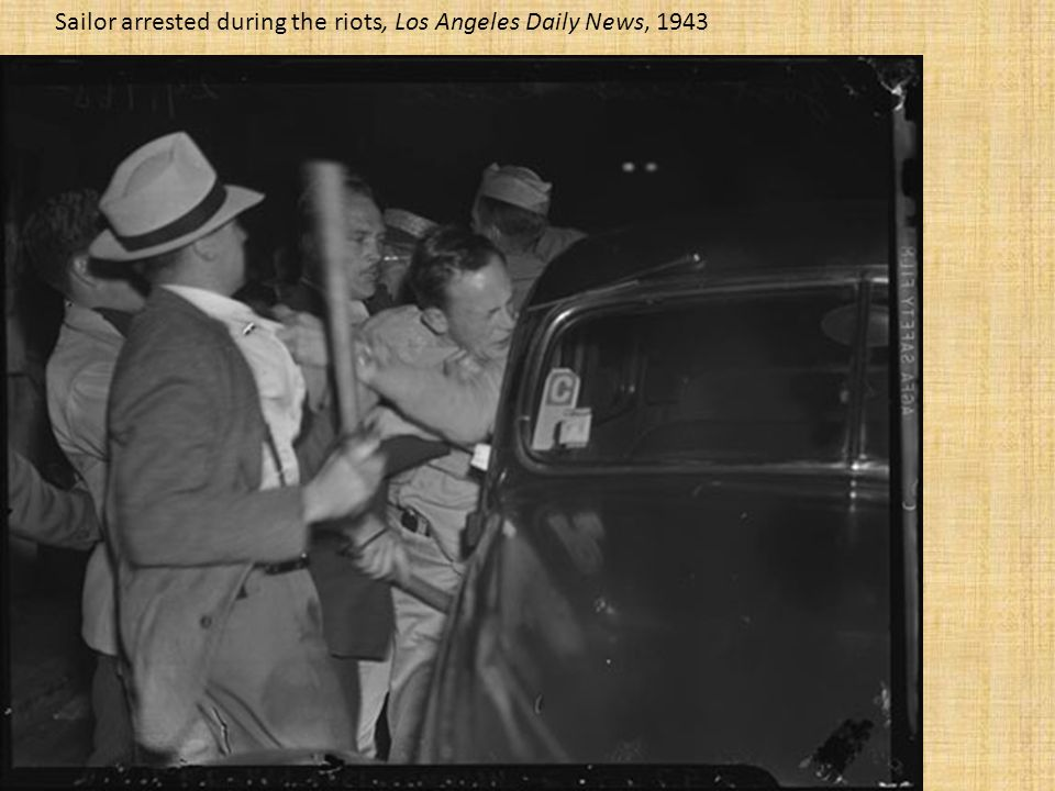 Sailor arrested during the riots, Los Angeles Daily News, 1943