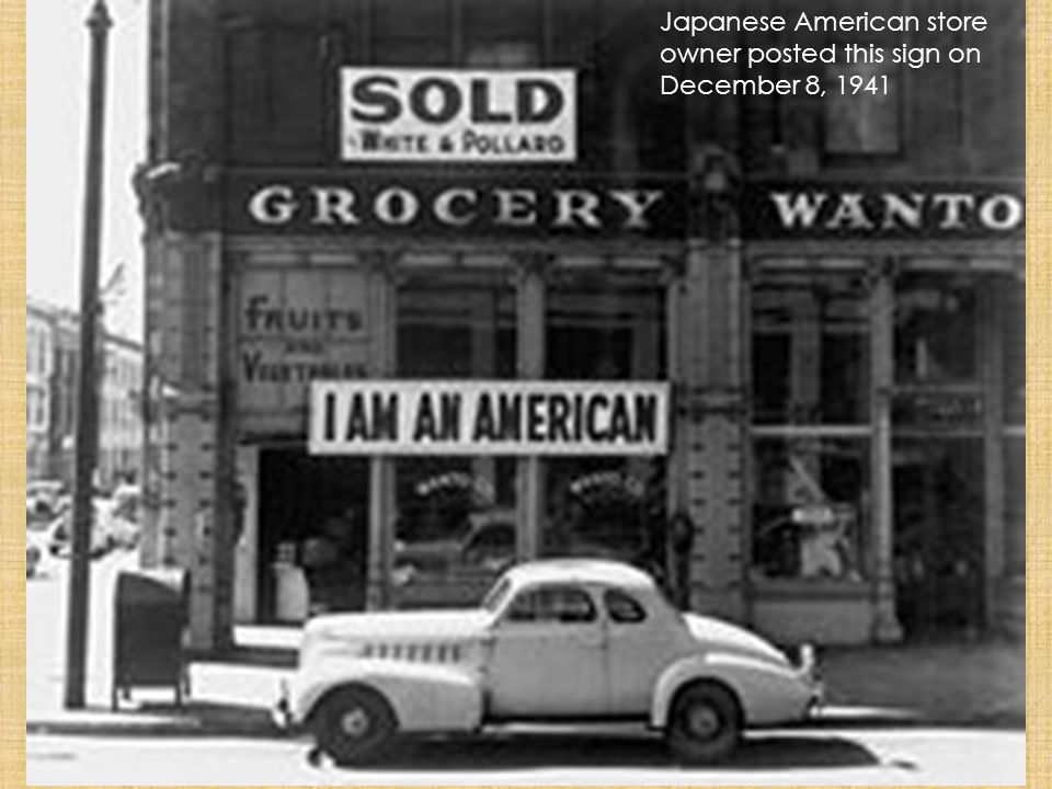 Japanese American store owner posted this sign on December 8, 1941