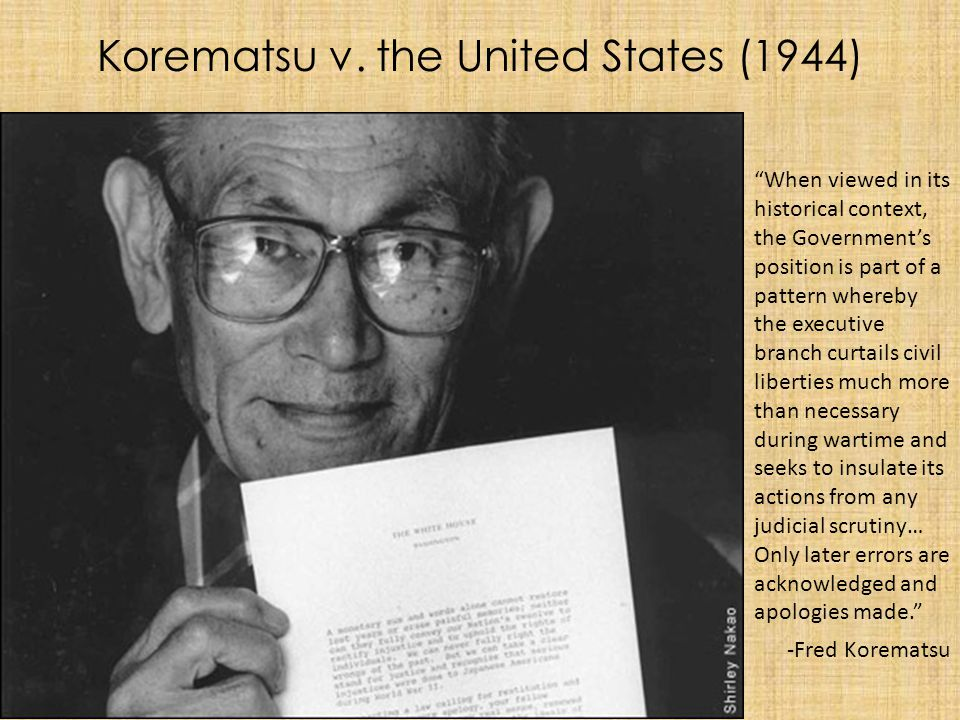 Korematsu v. the United States (1944)