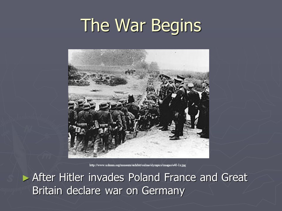 The War Begins http://www.ushmm.org/museum/exhibit/online/olympics/images/e40-1z.jpg.