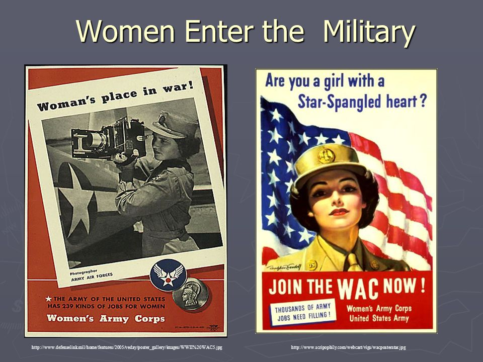 Women Enter the Military