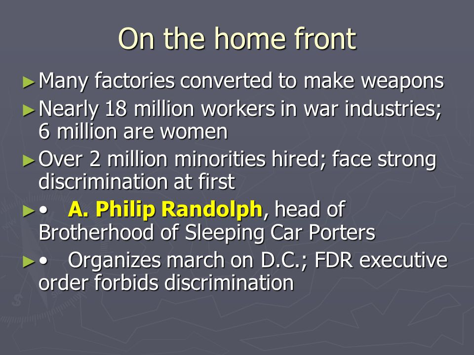 On the home front Many factories converted to make weapons