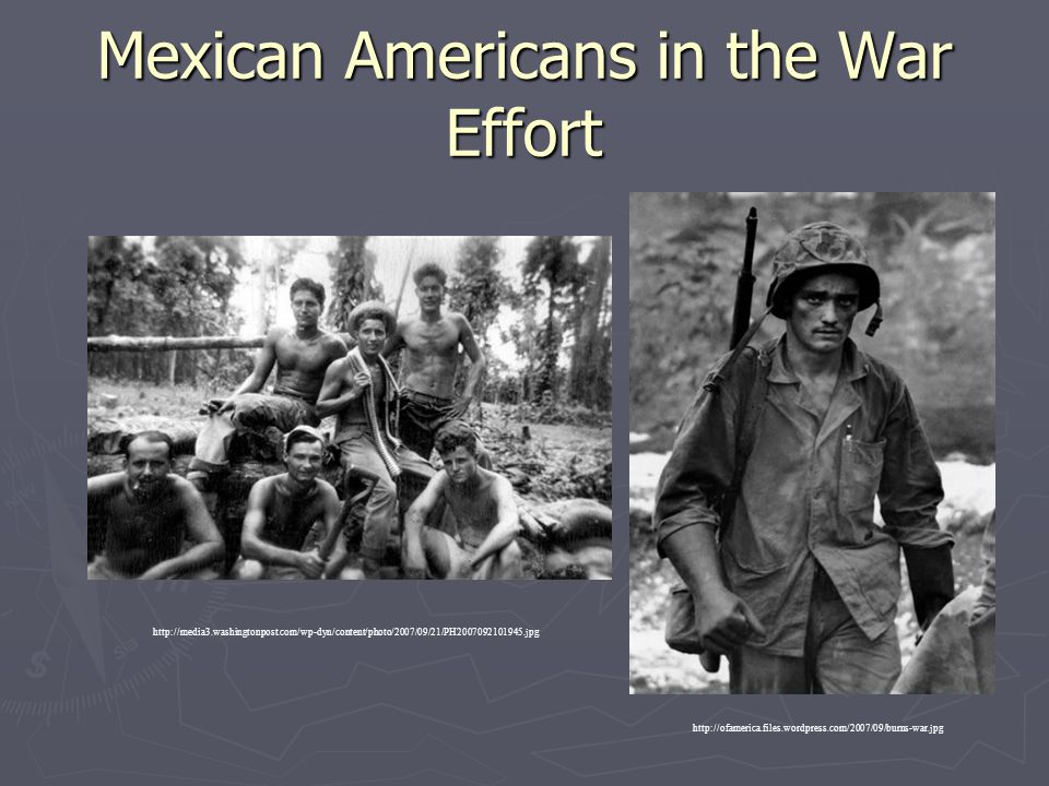 Mexican Americans in the War Effort