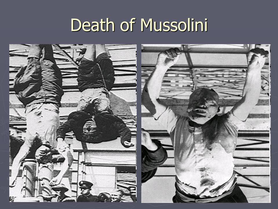Death of Mussolini