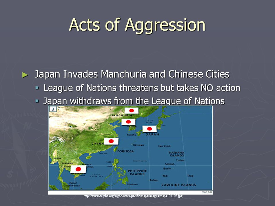 Acts of Aggression Japan Invades Manchuria and Chinese Cities
