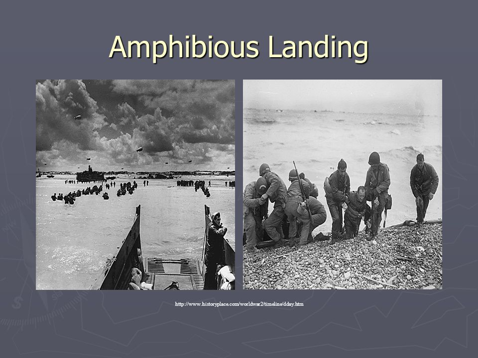 Amphibious Landing http://www.historyplace.com/worldwar2/timeline/dday.htm