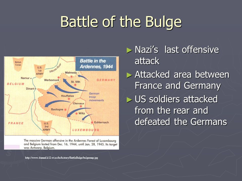 Battle of the Bulge Nazi's last offensive attack