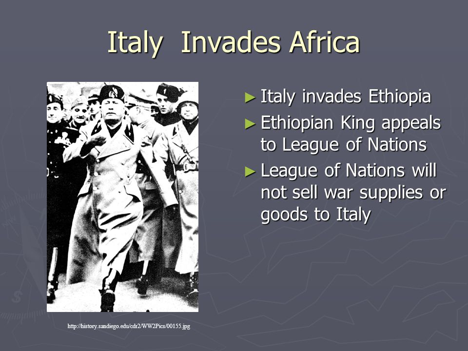 Italy Invades Africa Italy invades Ethiopia