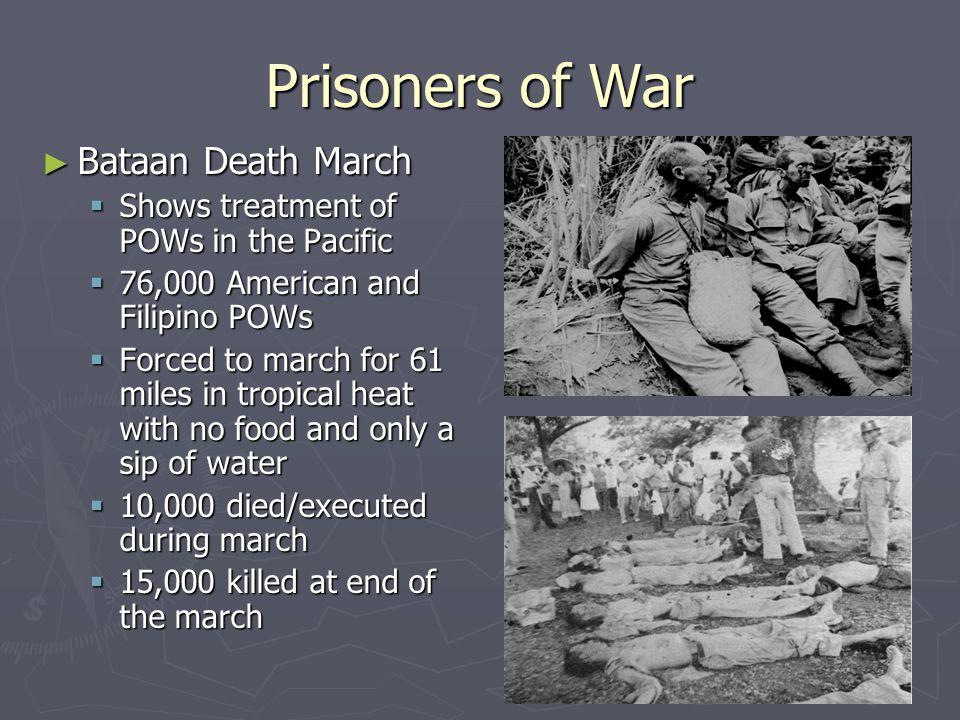 Prisoners of War Bataan Death March
