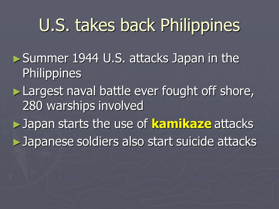 U.S. takes back Philippines