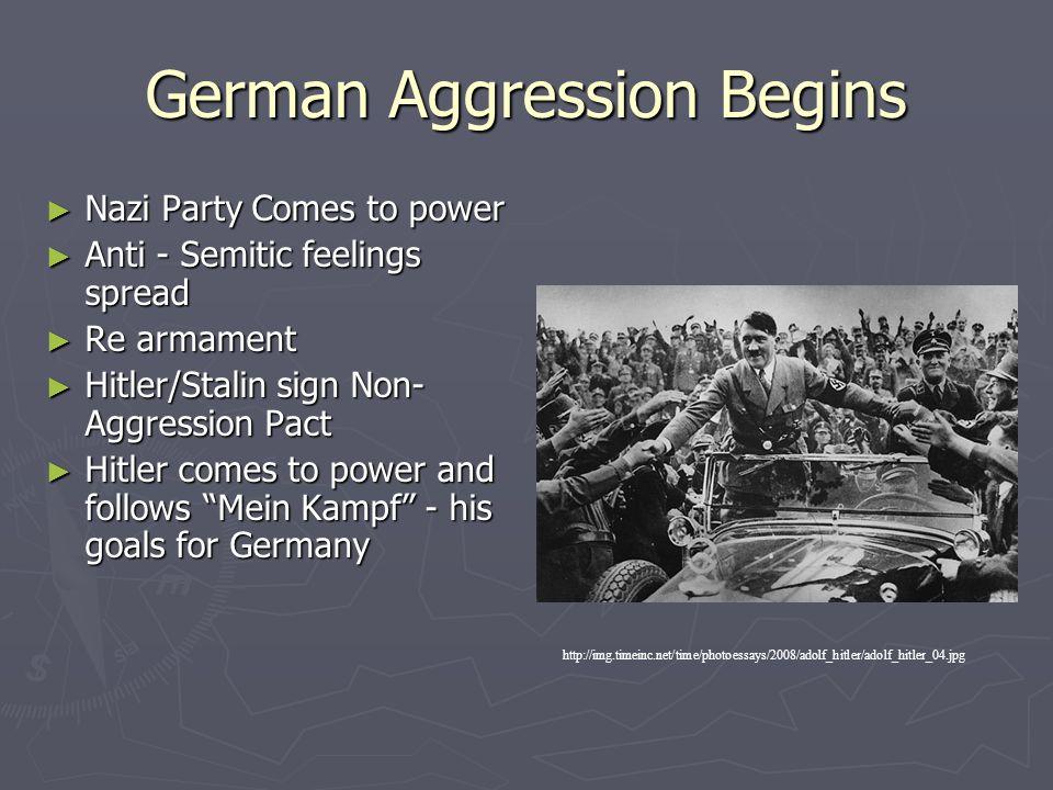 German Aggression Begins