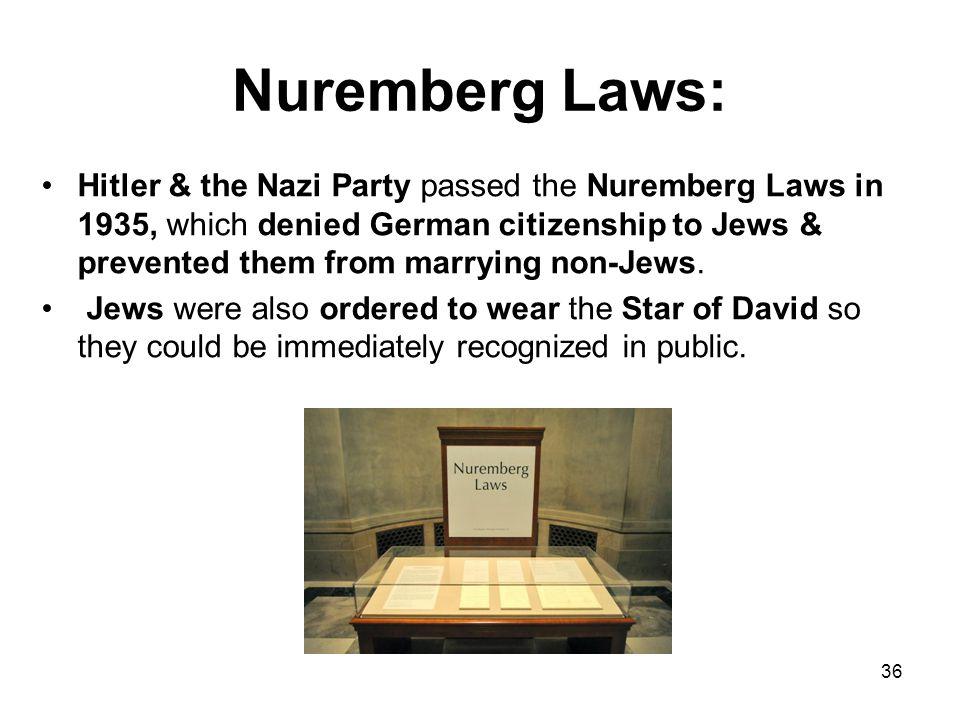 Nuremberg Laws:
