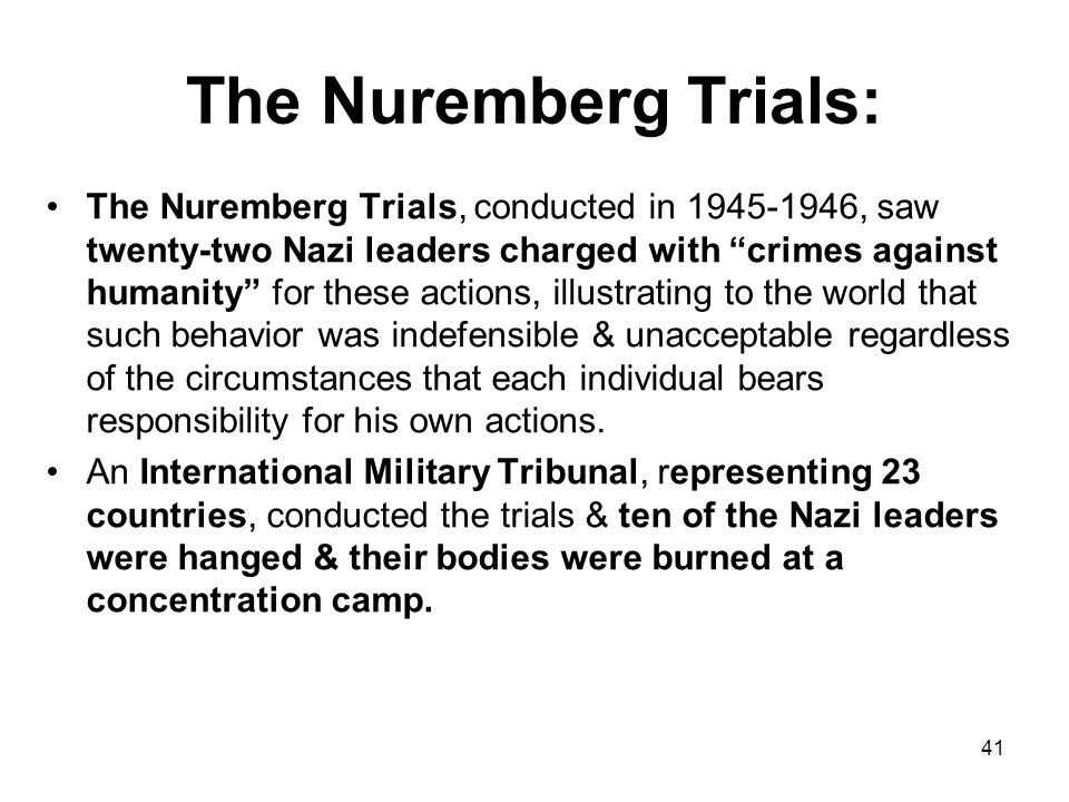 The Nuremberg Trials: