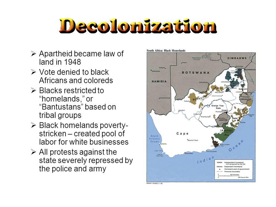 Apartheid became law of land in 1948