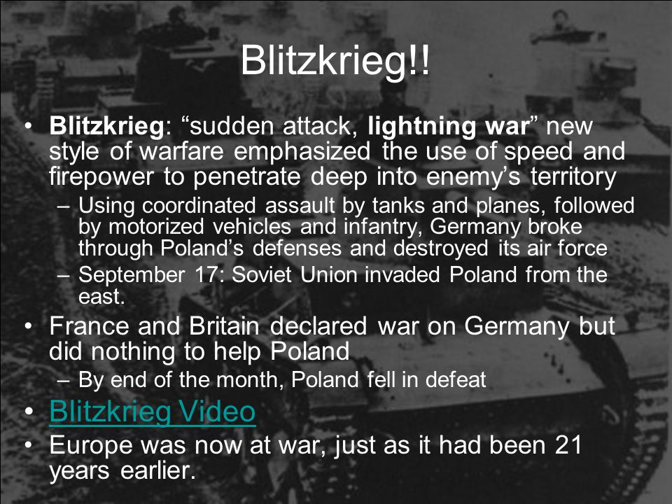 Blitzkrieg!! Blitzkrieg Video