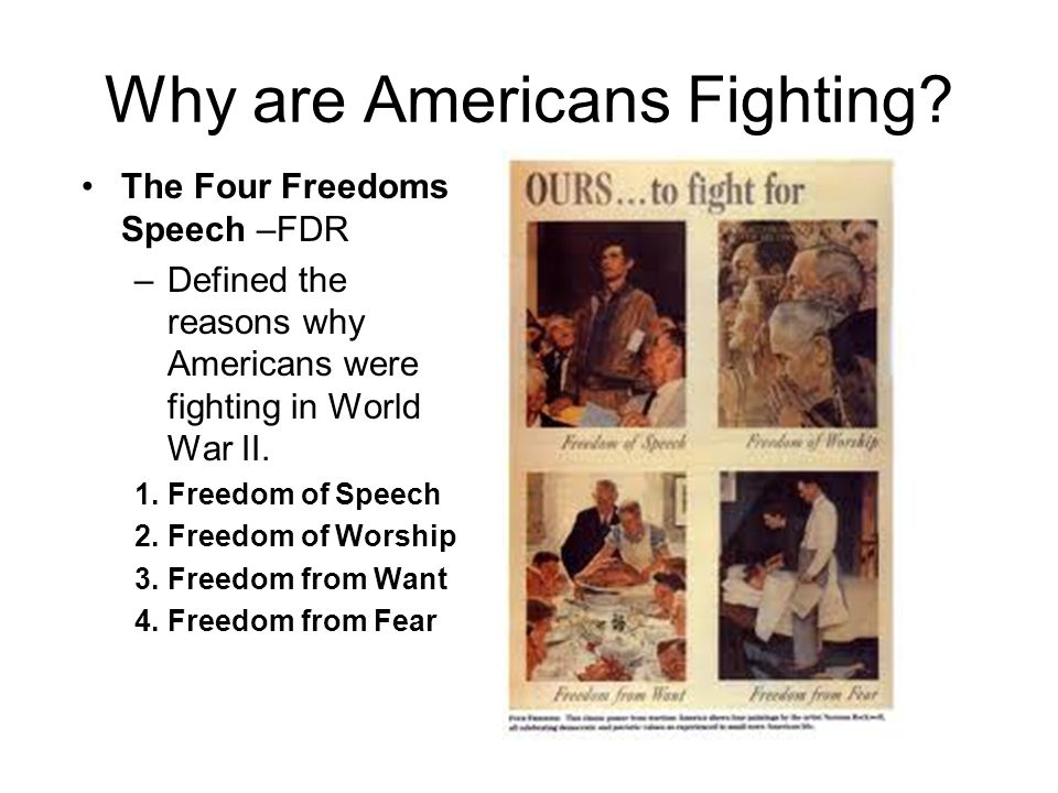 Why are Americans Fighting