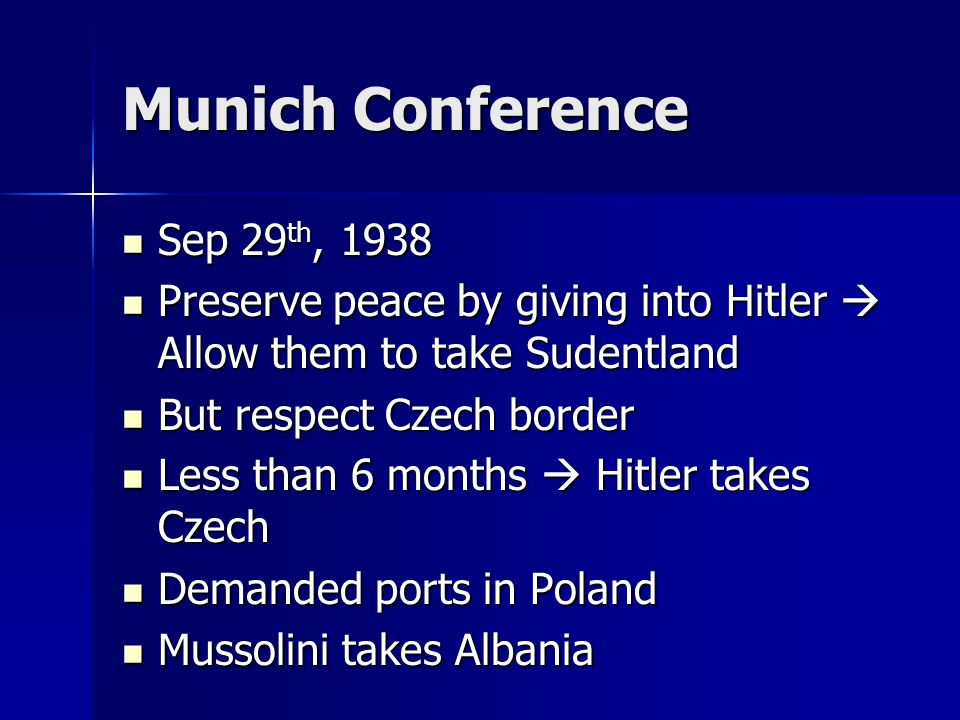 Munich Conference Sep 29th, 1938