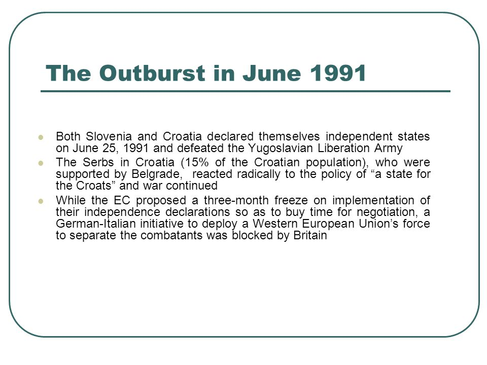 The Outburst in June 1991