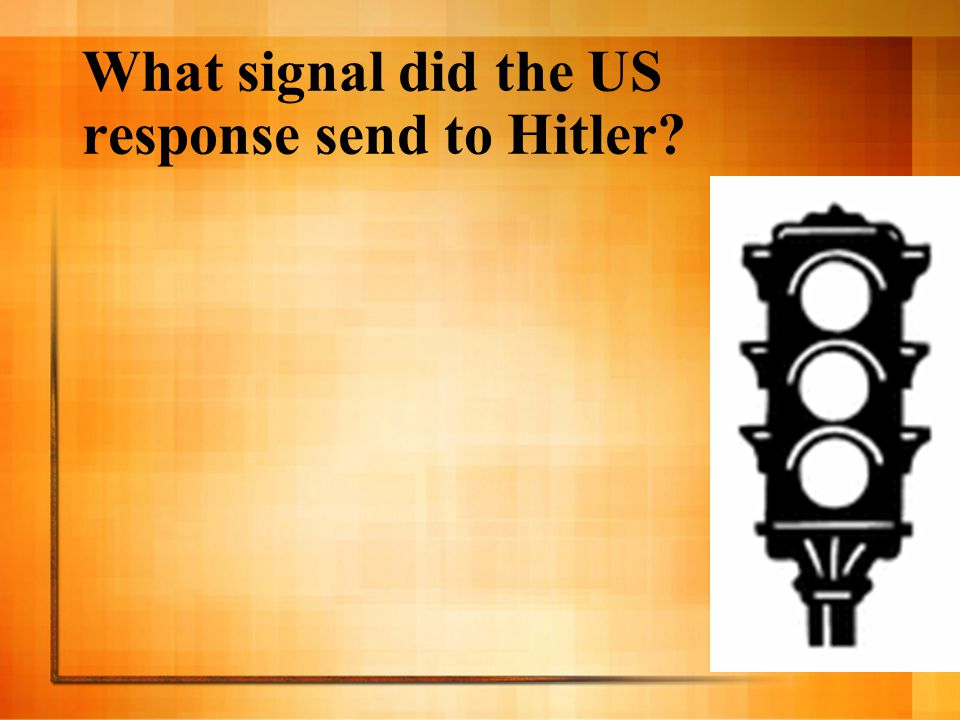 What signal did the US response send to Hitler