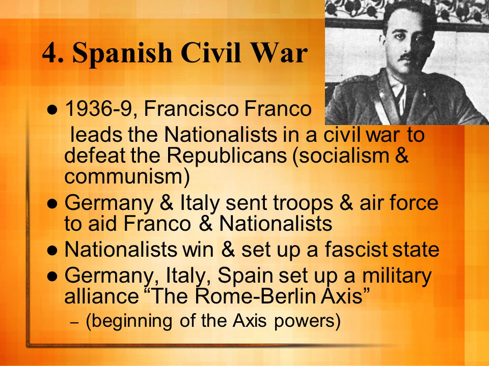 4. Spanish Civil War 1936-9, Francisco Franco