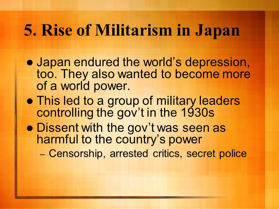 5. Rise of Militarism in Japan