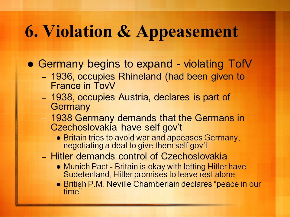 6. Violation & Appeasement