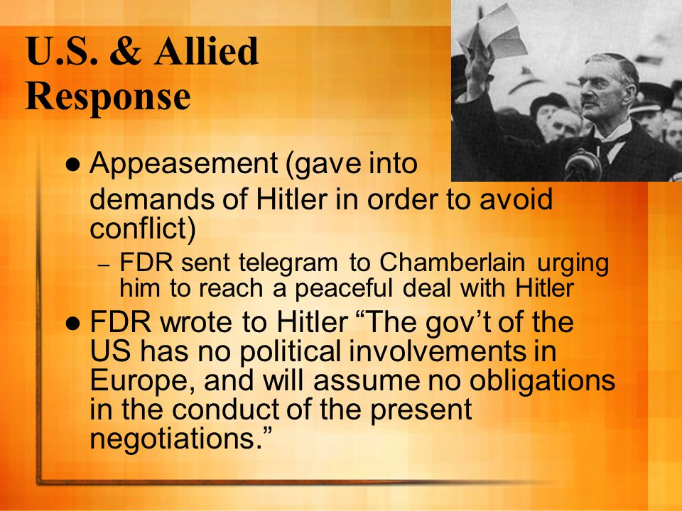 U.S. & Allied Response Appeasement (gave into