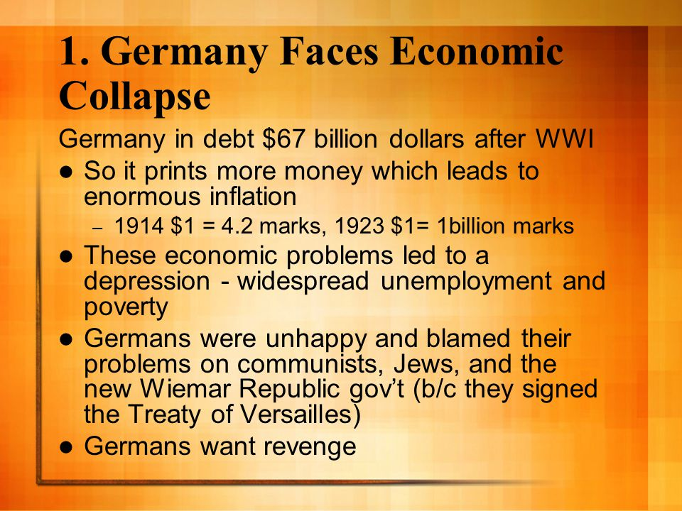 1. Germany Faces Economic Collapse