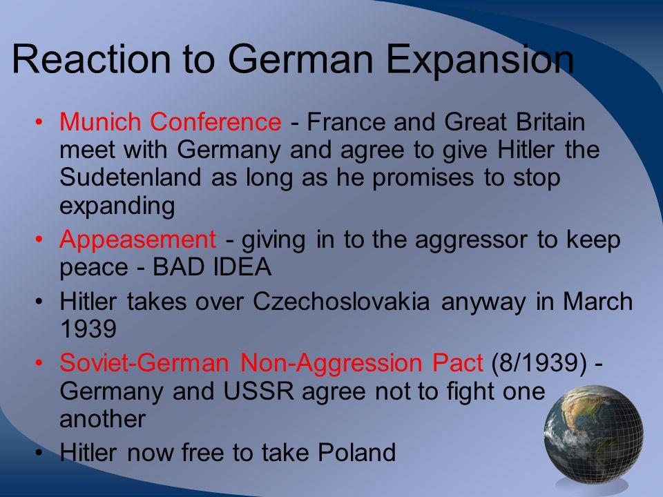 Reaction to German Expansion