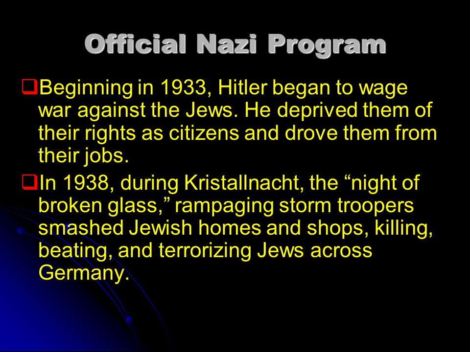 Official Nazi Program