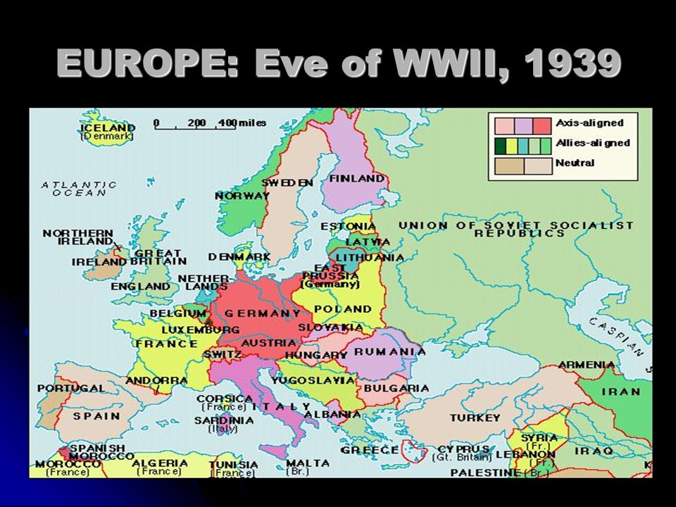 EUROPE: Eve of WWII, 1939
