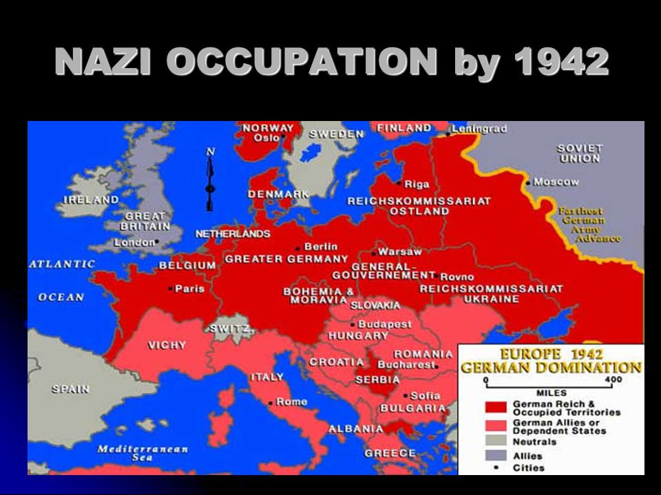 NAZI OCCUPATION by 1942