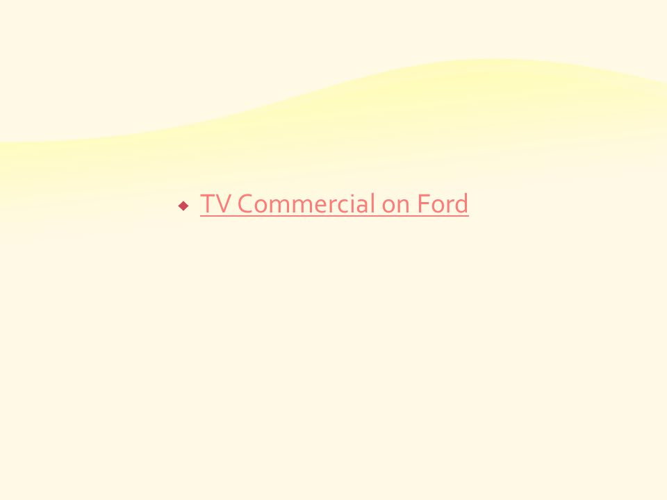 TV Commercial on Ford
