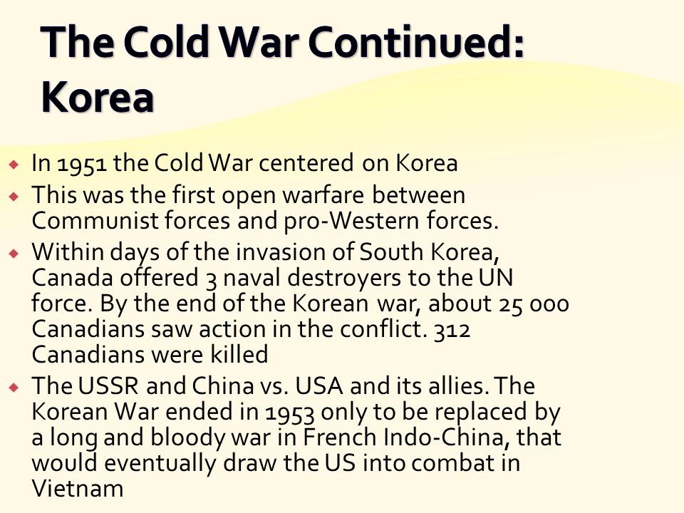 The Cold War Continued: Korea
