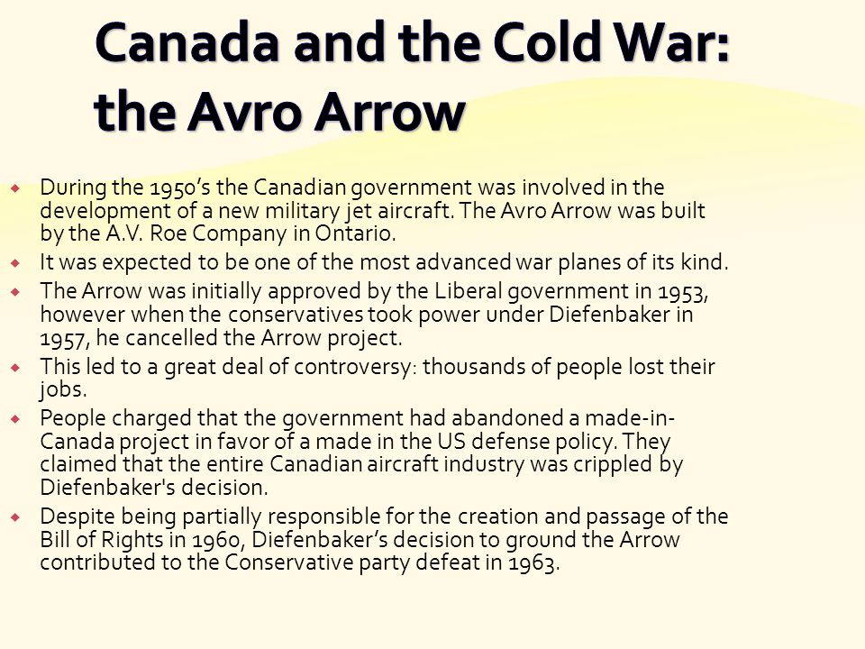 Canada and the Cold War: the Avro Arrow