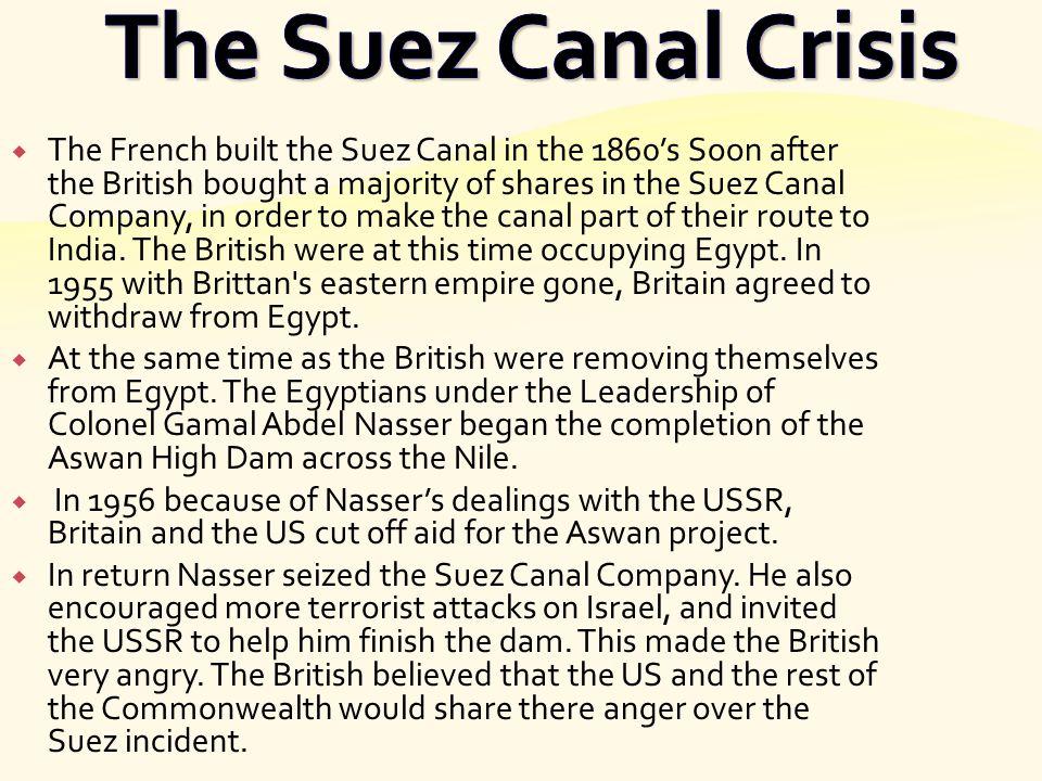 The Suez Canal Crisis