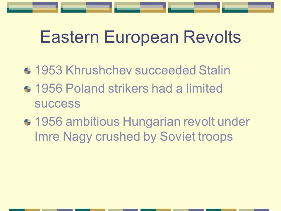Eastern European Revolts