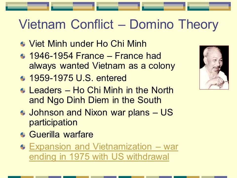 Vietnam Conflict – Domino Theory