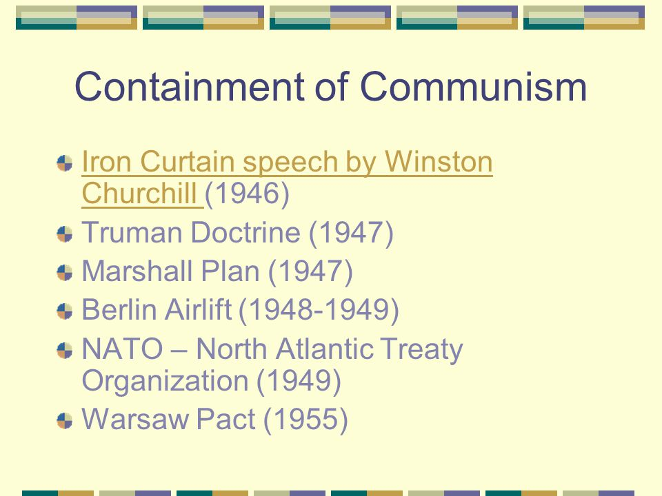 Containment of Communism