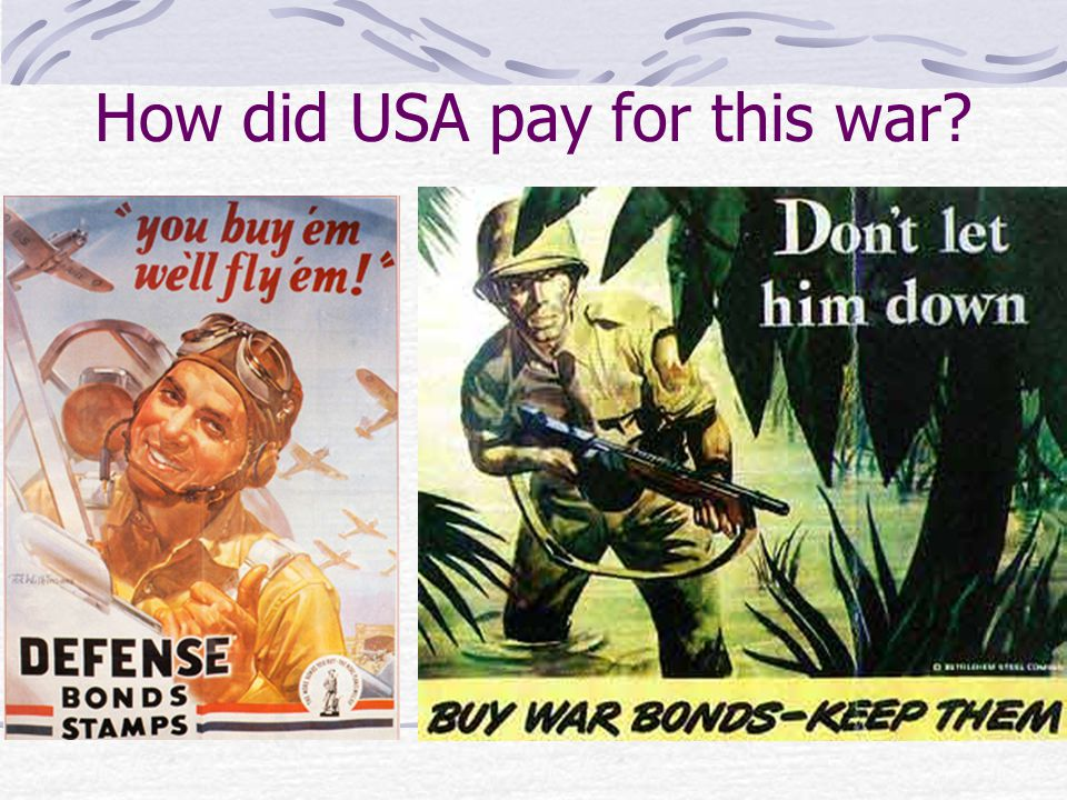 How did USA pay for this war