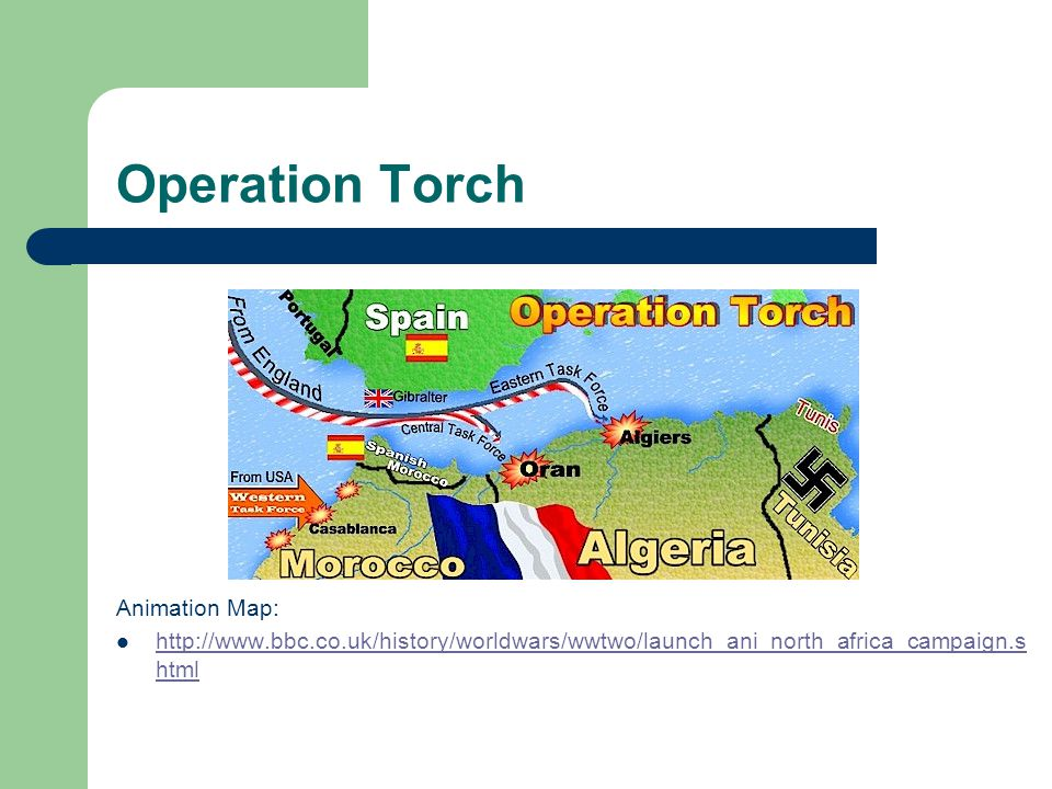 Operation Torch Animation Map: