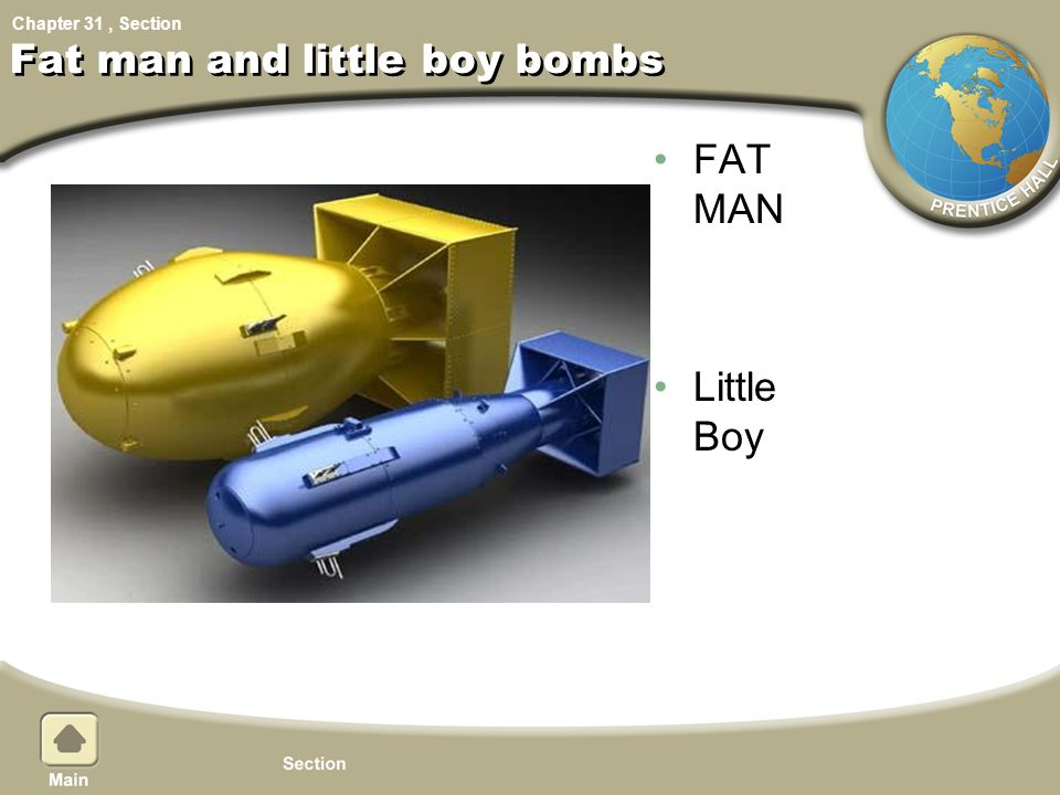 Fat man and little boy bombs
