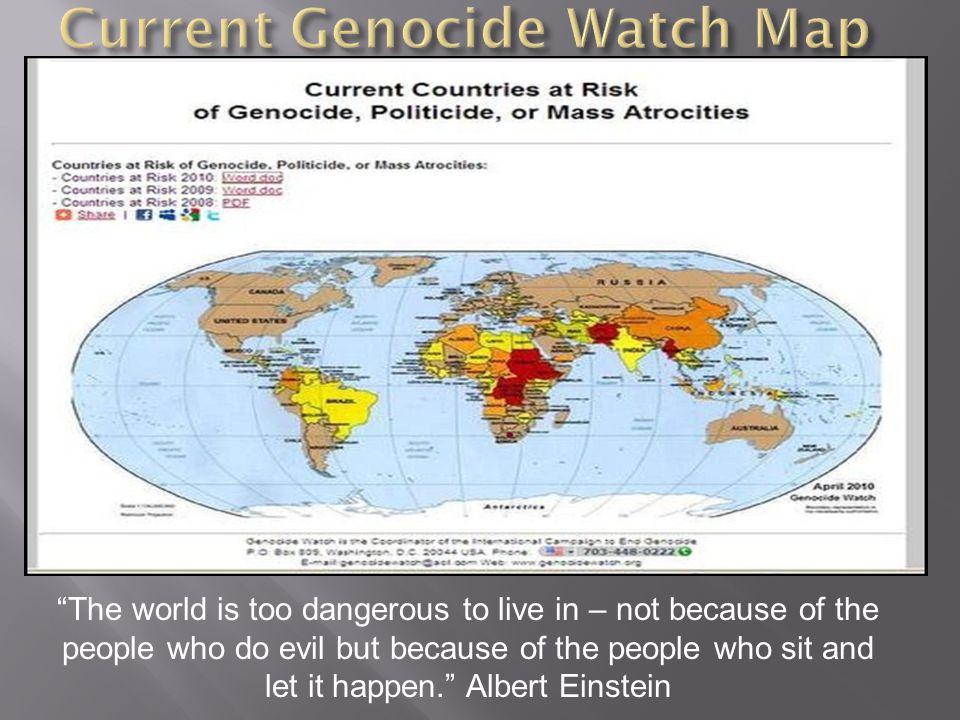 Current Genocide Watch Map